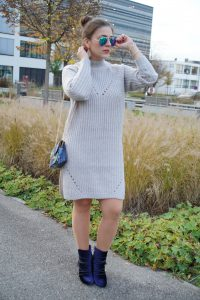 Der Wolle Look mit Samt Booties