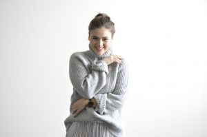Gemütlicher Wollpullover Look