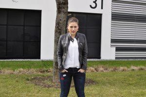 Skinny Jeans mit Patches von GANG & Lederjacke