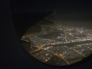 Nacht-Landeanflug auf Dubai