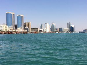 Dubai vom Creek aus gesehen