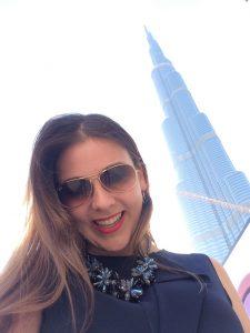 Man muss schon den richtigen Winkel finden, um den Burj Khalifa ganz auf das Foto zu bekommen.
