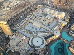 Die riesige Mall von oben