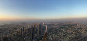 Die riesigen Hochhäuser wirken nur noch ganz klein von oben