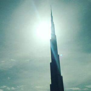 Ein Teil des höchsten Gebäudes der Welt.