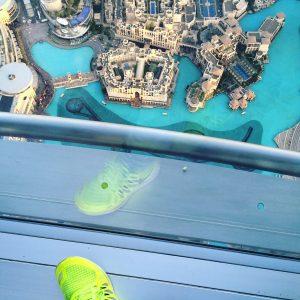 Die Wasserfontänen Show sollte man sich mal von oben angesehen haben!