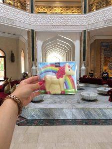 Das Schoko-Einhorn von arko folgt mir auch nach Marrakesch (aufgenommen im Hotel Es Saadi Marrakech Resort - Palace)