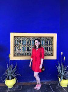 Passend zu den Produkten von YSL shoote ich im YSL Garten in Marrakesch