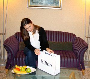 Ein Willkommensgruß des Hilton Budapest City Teams