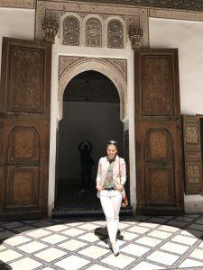 Die maurische und andalusische Bauart des Bahia Palast