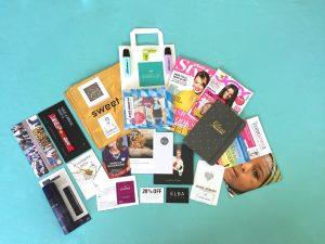 Der prall gefüllter Goodie Bag auf dem Fashiondeluxxe Charity Bazar enthielt so viele tolle Geschenke und Gutscheine