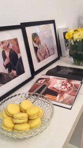 Wunderschönes Arrangement in frühlingshaftem Gelb - die Macarons waren ein Traum