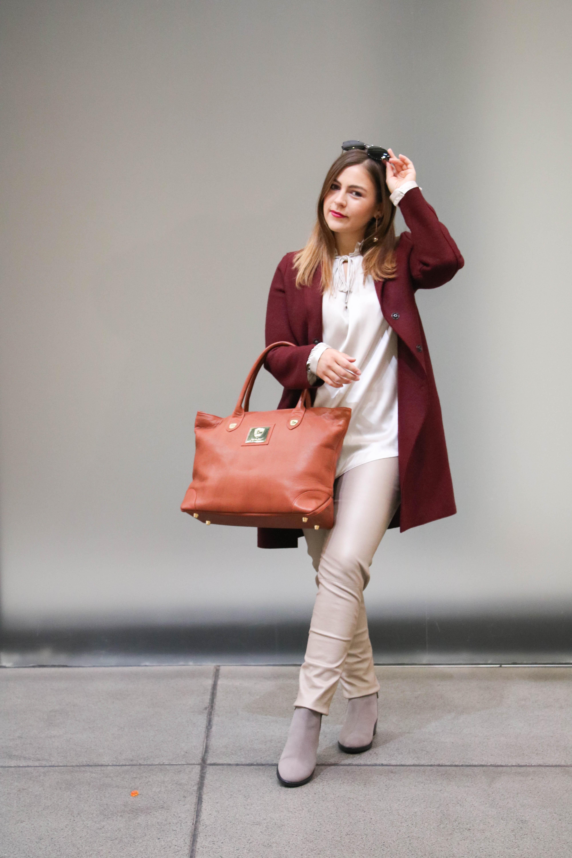 Mit einfachen Tricks das Winteroutfit teuer mogeln, hochwertiger Look aus Seide und Leder