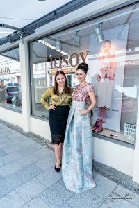 Mit Jeannette Graf, die als Special Guest geladen war und für die Kollektion modelt. Copyright: Christian Habel