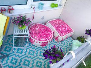 Wie du deinen Balkon kunterbunt bepflanzt, eine marokkanische Sitzecke einrichtest und deine Ruheoase dekorierst! Außerdem: Gewinnspiel - Kaffee-Set von Leonardo Vienna!