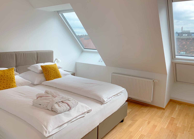 Schlafzimmer von Vienna Grand Apartments, einer Alternative zum Hotel in Wien